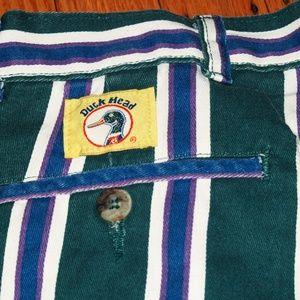 Duck Head Shorts - 💈Vintage Striped Jean Shorts💈